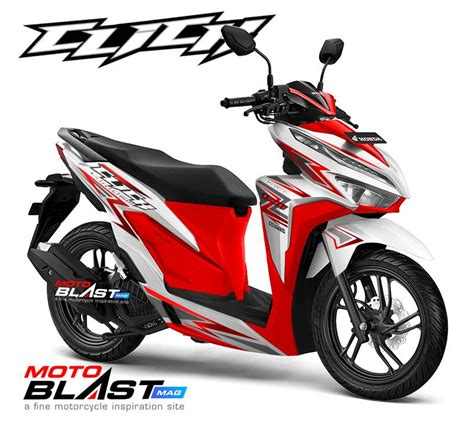 Pcx 2018 Shock Miring by Modifikasi Striping Honda New Vario 150 Facelift 2018