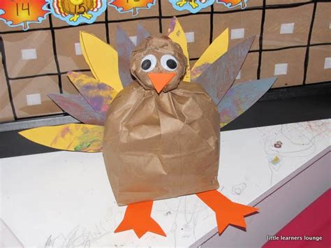 turkey paper bag craft learners lounge paper bag turkey