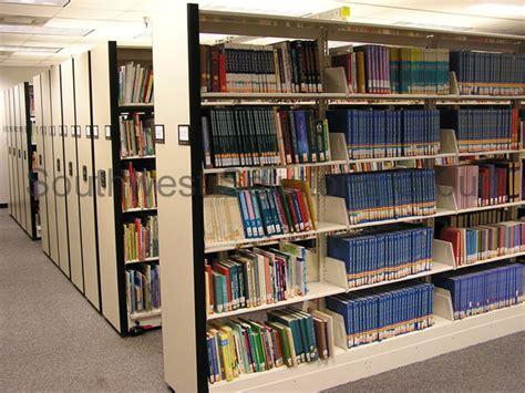 high density shelving high density storage shelving optimizes k 12 school