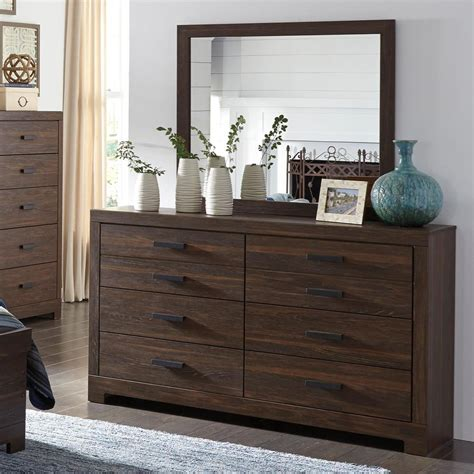 mirror style bedroom furniture signature design by arkaline modern rustic dresser
