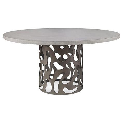pedestal dining table modern alta industrial modern pedestal outdoor dining table