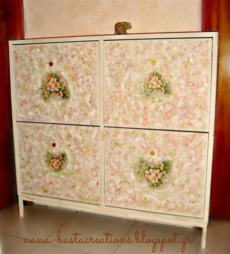 decoupage on wood table decoupage on wooden furniture for shoes nana s creations