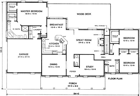 ranch floor plans with split bedrooms ranch with split bedroom design 4978k 1st floor master