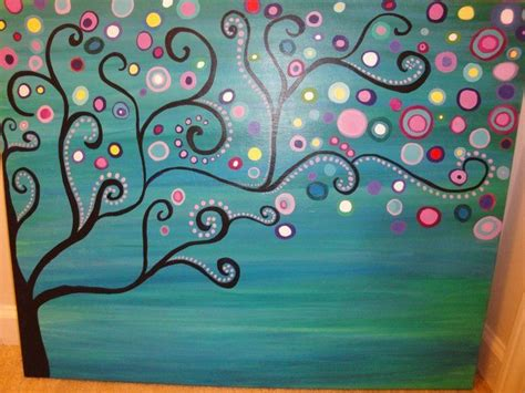 acrylic painting ideas trees large abstract tree acrylic painting