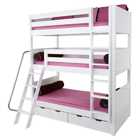 bunk beds white maxtrix moly bunk bed in white with panel bed ends
