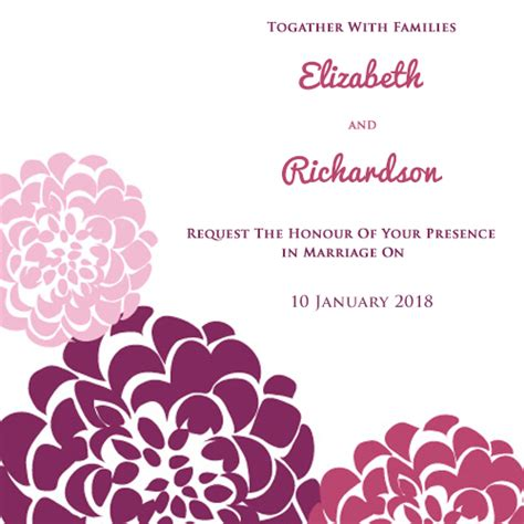 make marriage invitation card free create your own wedding invitations for free