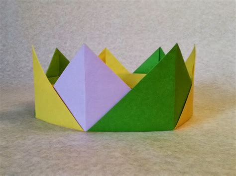 crown origami easy origami crown folding or crown paper folding step by