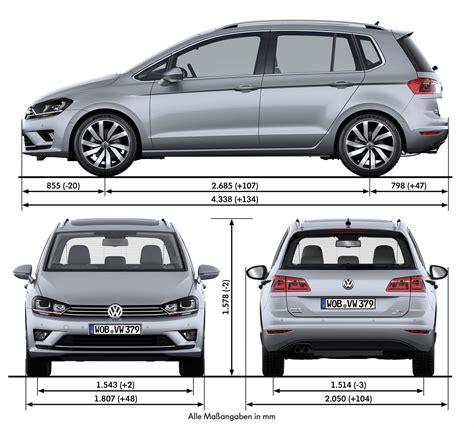 Volkswagen Golf Dimensions by Volkswagen Adds New Golf Sv To The Range