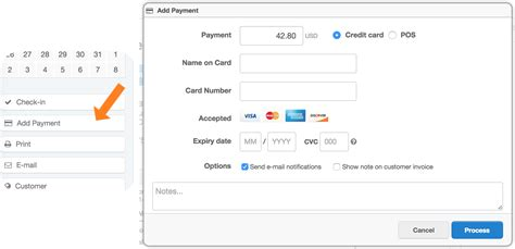 how to make credit card payment by cheque booking point of sale