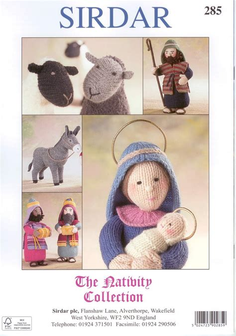 sirdar knitting pattern books sirdar 285 the nativty collection knitting pattern book by