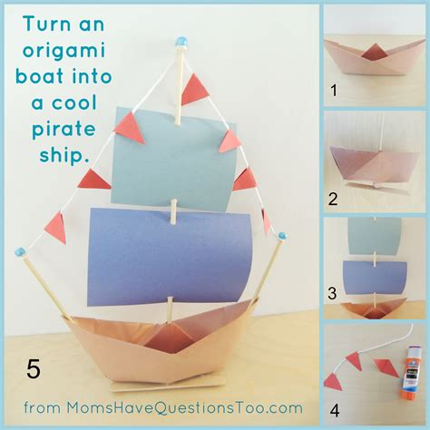 how to make a origami pirate ship origami boat and pirate ship craft