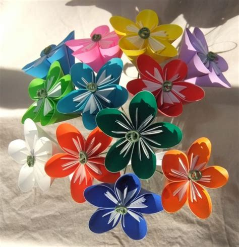 easy origami flower bouquet rainbow origami flower bouquet aftcra