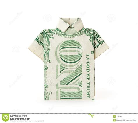 t shirt money origami dollar bill t shirt royalty free stock images image 3351979