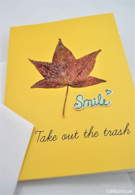 make note cards 10 fall leaf crafts inspiration fridays the creek line