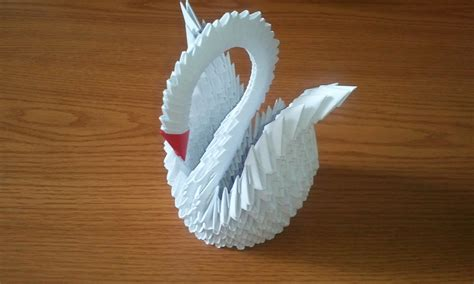3d swan origami 3d origami white swan