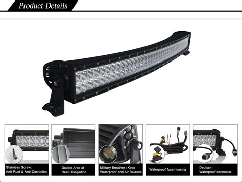 50 curved led light bar black oak led 50 inch row curved led light bar review
