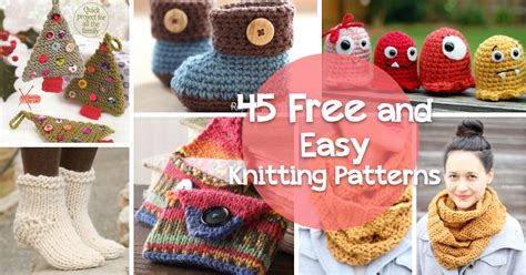 simple knitting projects free how to knit 45 free and easy knitting patterns