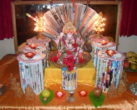 decorations made at home ganpati decoration ideas for home the royale