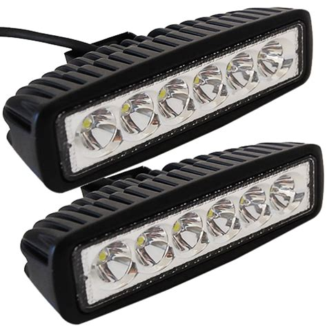 led light bar motorcycle 2pcs 6 quot inch 18w led work light bar l for driving truck