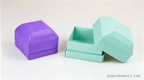origami tool box origami gem gift box tutorial great as a ring box