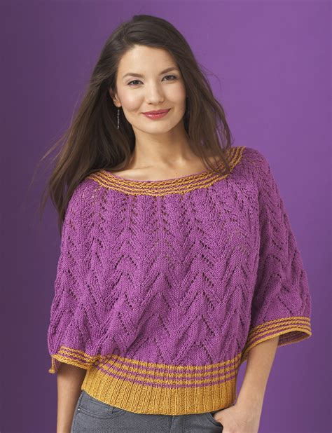 knitted cotton top patterns patons butterfly top knit pattern yarnspirations