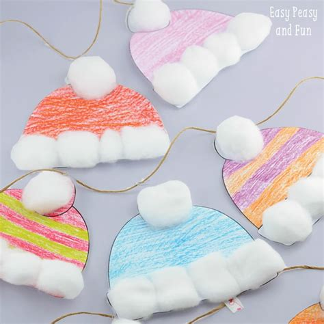 simple craft for winter hats craft for classroom craft