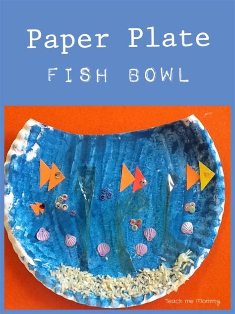 paper fish bowl craft easy crafts for preschoolers teach me