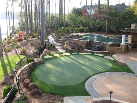 putting greens backyard backyard putting greens