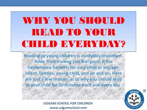 should read why you should read to your child everyday