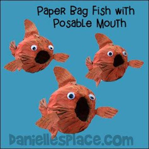 paper bag fish craft pin by danielle s place of crafts on fish and the