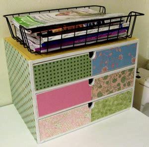craft paper storage drawers decorate craft storage box with scrapbook paper