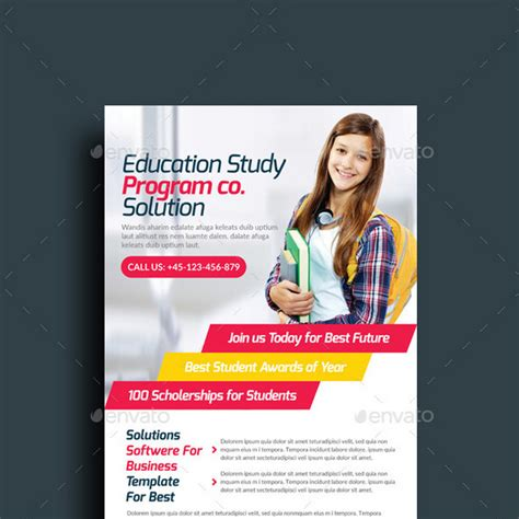 education flyer 15 best study course flyer templates
