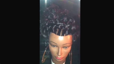 hairstyles done on a mannequin with green hair stand up braids on my mannequin head updu hairstyles