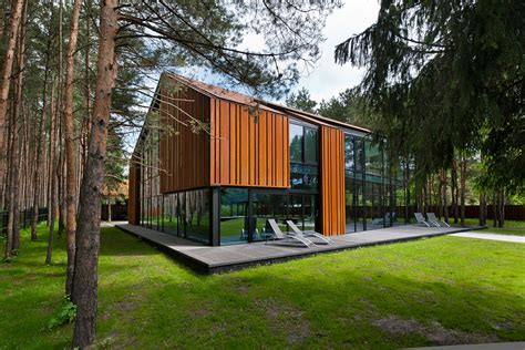woodwork in house a house in the woods of kaunas by studija archispektras 3