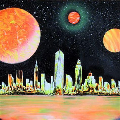 spray paint new york city skyline shop city skyline painting on wanelo