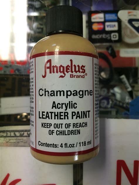 angelus paint vs angelus chagne acrylic leather paint 4 fl oz jwong