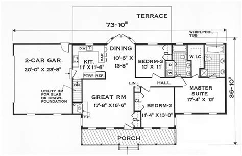 floor plans for 1 story homes great one story 7645 3 bedrooms and 2 5 baths the
