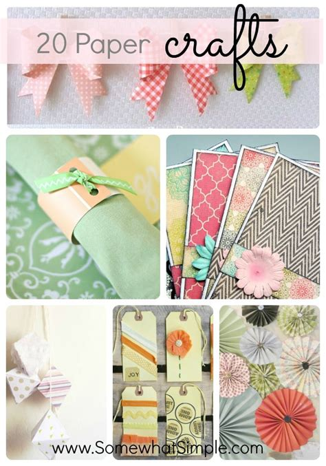 paper crafts projects 20 creative paper projects somewhat simple