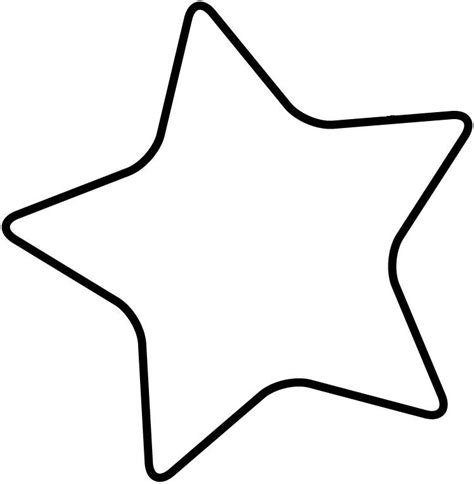 rounded star template clipart best