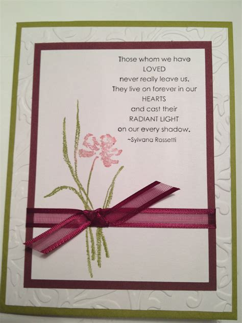 sympathy cards to make sympathy card this color combo cards