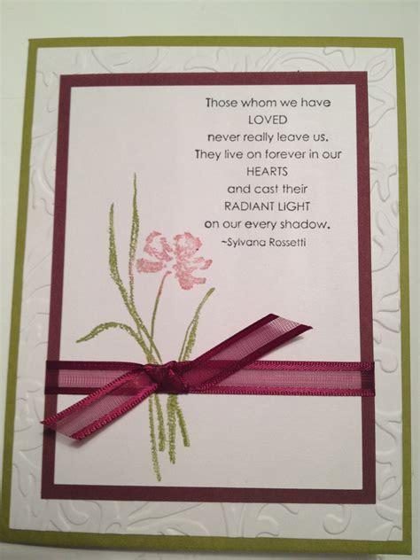 how to make sympathy cards sympathy craft ideas