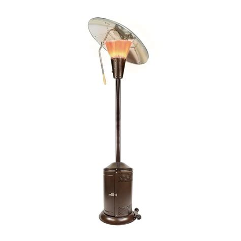 propane patio heaters home depot mirage 38 200 btu bronze heat focusing propane gas patio