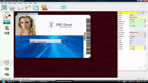 id card software free emedia software for id card design using simple fixed text
