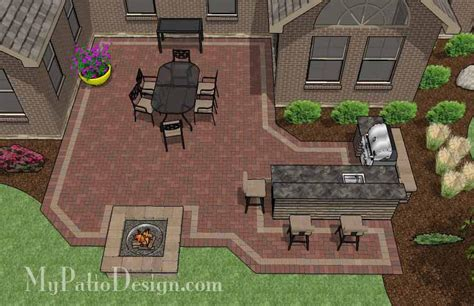 brick patio designs with pit 6 patio designs for courtyards or u shaped homes