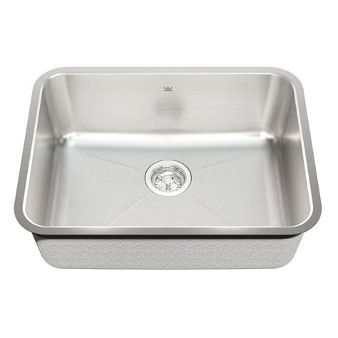 kitchen sinks lowes kindred kss6ua 9d 18 undermount stainless steel