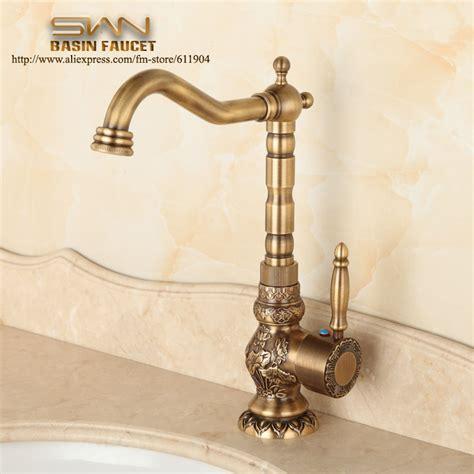 antique kitchen sink faucets aliexpress buy antique brass bathroom faucet lavatory vessel sink basin kitchen faucets