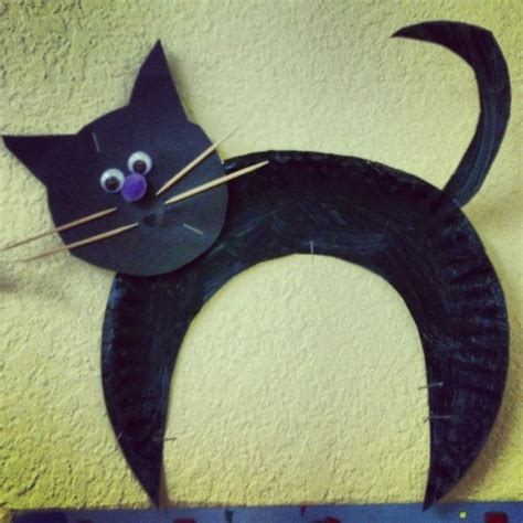 cat craft projects black cat for preschool activities and