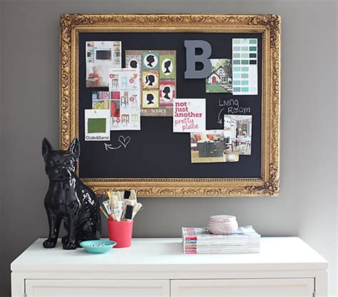 diy chalkboard cork board small a kick of creativity diy central