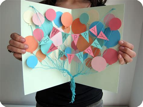 birthday craft ideas for for a song diy birthday card and balloon crafts