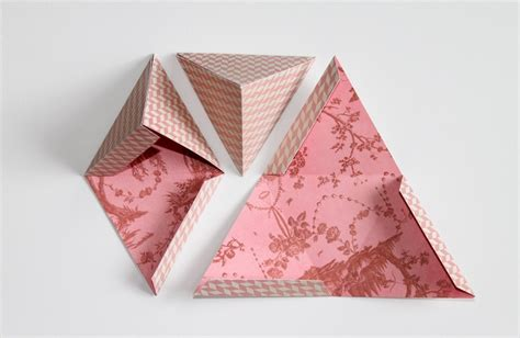 gift paper craft diy triangle gift boxes paper craft crafts to do